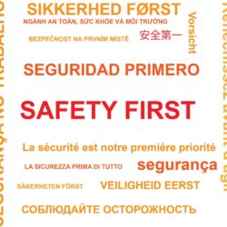 safety first in multiple languages